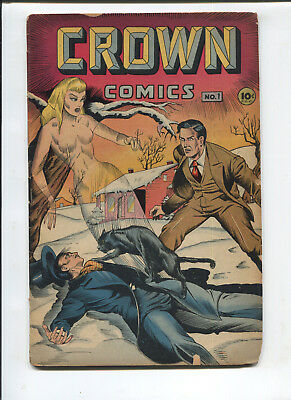 Crown Comics  #1  Good  1945 Golden Age Comic