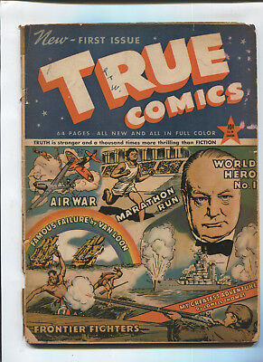 True Comics  #1  Good -  1941 Golden Age Comic
