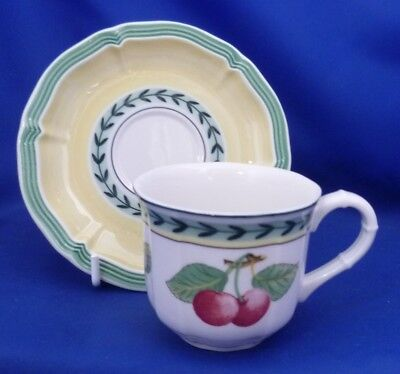 A Villeroy & Boch 'french Garden' Fleurence Coffee Cup And Saucer