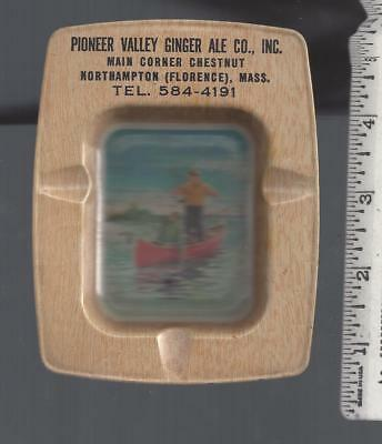 1950s advertising ashtray PIONEER VALLEY GINGER ALE Florence NORTHAMPTON Mass
