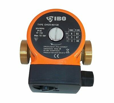 "IBO 1 1/2""OHI25-60/130 Circulating Pump Central Heating replaces Grundfos BRONZE"