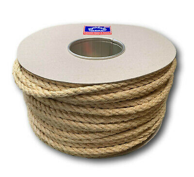 100M TRADE REELS EVERLASTO NATURAL SISAL DECKING ROPE 6mm 8mm 10mm 12mm 14mm