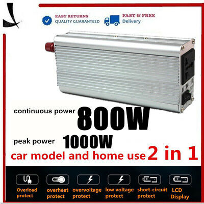 3000W - 6000W DC 12V to AC 240V Power Inverter Charger Converter Car Plug Cable