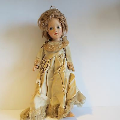 Antique Wood Baby Doll with Eye, Arm and Leg movement