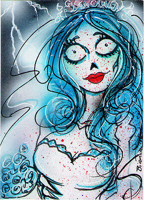 The CORPSE BRIDE Original Sketch Card Painting by Bianca Thompson