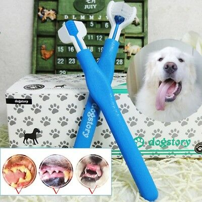 Dog Toothbrush 3 Toothbrush Head Cleaning Tool Oral Care Pet Dental Hygiene