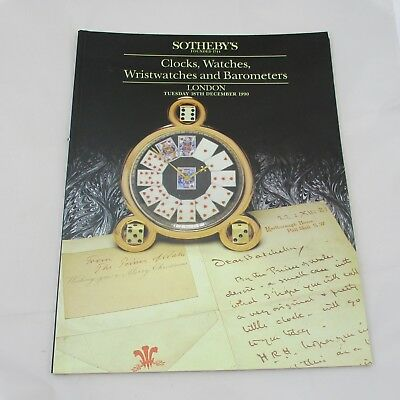 Sotheby's Auction Catalogue - Clocks, Watches, Wristwatches and Barometers 1990