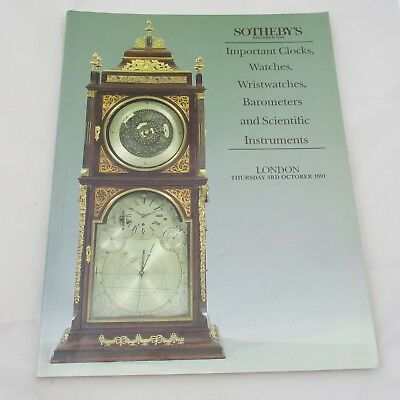Sotheby's Auction Catalogue - Important Clocks, Watches, Wristwatches, Barometer