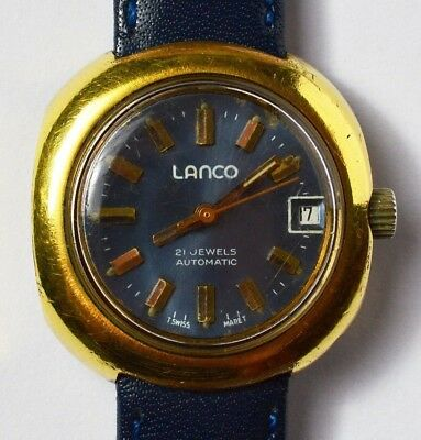 Lanco automatic Swiss made 21 Jewels Armbanduhr Damenuhr Damenarmbanduhr