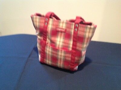 LONGABERGER HOMESTEAD COLLECTION~ Handbag~Purse~Tote Bag~Red Plaid FREE SHIP
