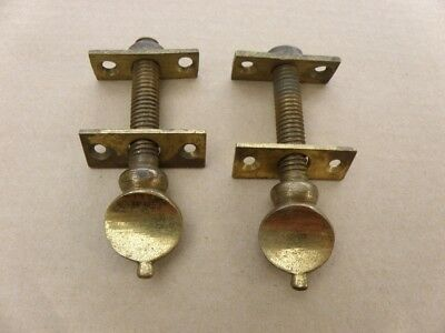 pair antique bolts and fixing plates