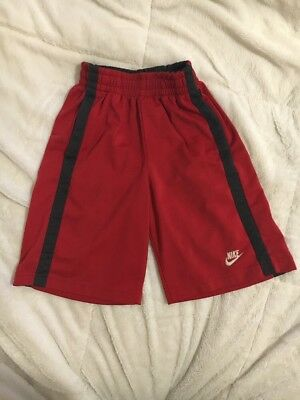 Boys Nike Basketball Shorts Size Small Red And Black