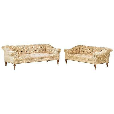 Unusual Matching Regency Style Mahogany Sofa & Love Seat   (Blow out special!)