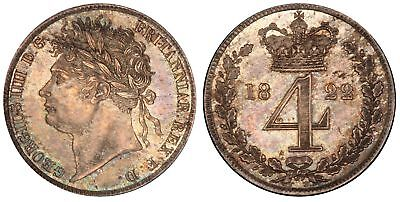 GR BRIT George IV 1822 AR Maundy Set PCGS PL62-64 KM-MDS67 S-3816 Nicely matched