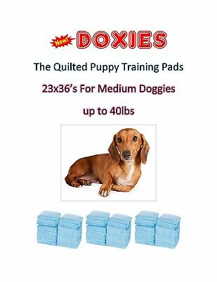 "150 23x36"" Doxies The Econo Quilted Puppy Training Piddle Pads for Medium Dogs"