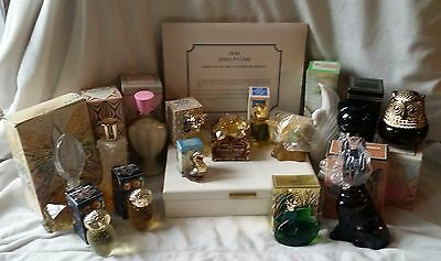 Lot of 16 Women's Avon Products-ANIMALS-Glass Bottles