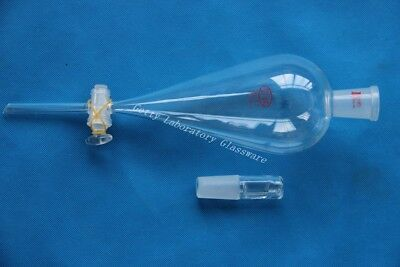 500 mL Lab Glass Separatory seprating drop funnel Glass stopcock, 24/40 joint,