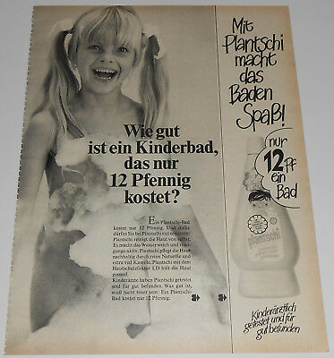 1970 vintage print ad - BATH SOAP - LITTLE GIRL - GERMANY 1-PAGE ADVERT nude