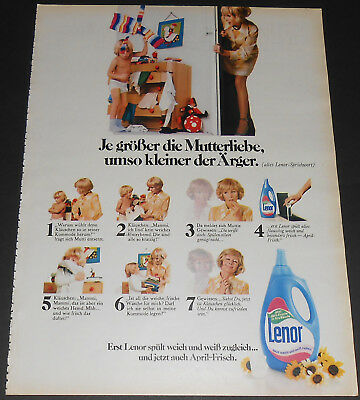 1971 vintage print ad - LAUNDRY DETERGENT - LITTLE BOY - GERMANY 1-PAGE AD nude