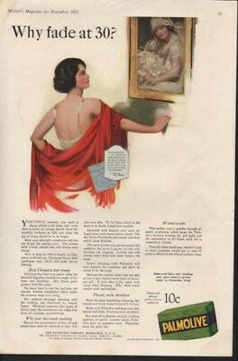 1922 Palmolive Cleopatra Sexy Nightie Soap Olive Oil Ad9875