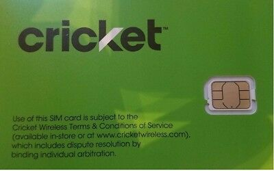 Brand New Cricket Wireless Replacement Nano Sim Card 4G LTE Good For Activation