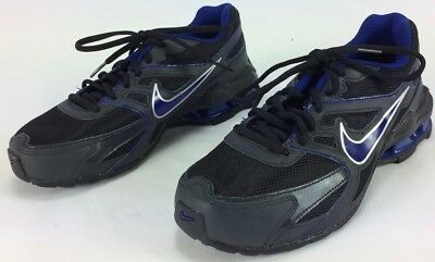 Nike Boys Reax Run NEW Black and Blue Athletic Sneakers Tennis Shoes Running