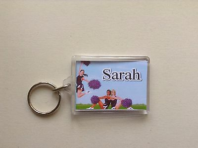 Personalised Keyring / Bag ID  -  Cheerleaders  Design