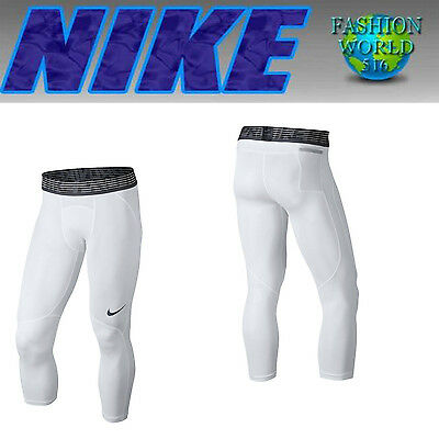 Nike Men's Size Xl Pro Hypercool Compression 3/4 Training Tights White  848976
