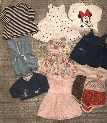 Huge Bundle Baby Girls Next Dresses Outfits 6-9-12 Months BEAUTIFUL 💓💓💓