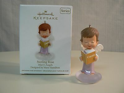 Hallmark Ornament 2012 STERLING ROSE Mary's Angels Choir Sing #25 in Series NEW