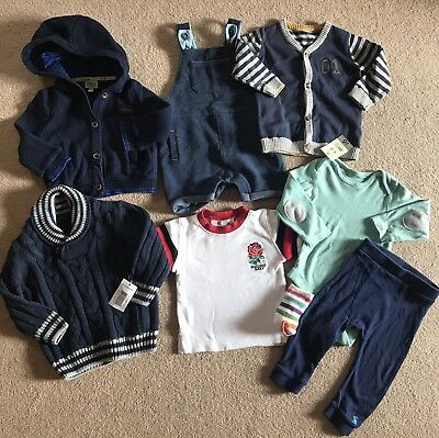 Boys Ted Baker Joules Bundle Dungarees Etc 6-9-12 Months INC BNWT!! 💙💙💙