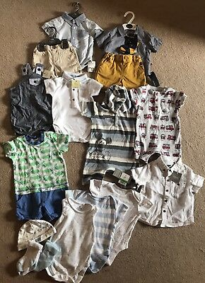 Huge Next Mothercare Bundle Baby Boys Outfits Sets 3-6 MOST BNWT!! 💙💙💙