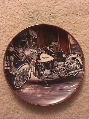 Harley Davidson 1968 Electra Glide Plate by The Franklin Mint Collection
