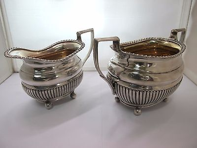 Victorian, Charles Boyton, Sterling Creamer and Sugar set