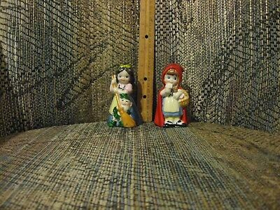 Two Collectible Ceramic Bells, Snow White and Red Riding Hood