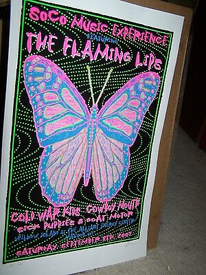 THE FLAMING LIPS POSTER in Madison, Wisconsin-September 2007-Silk Screen-#16/100