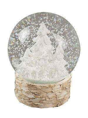 Christmas Snowglobe Nordic Decorations Ornaments Snow Deer Tree Xmas Rustic