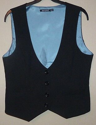 Womens fully lined black pinstripe waistcoat by Atmosphere size 16