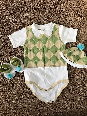 baby aspen 0-6 golf outfit