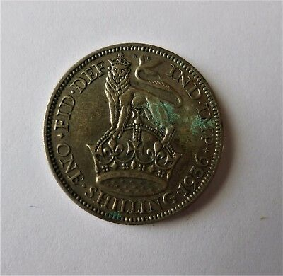 1936 Great Britain Uk One Shilling Silver Coin