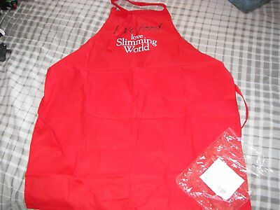 red slimming world apron new in packaging