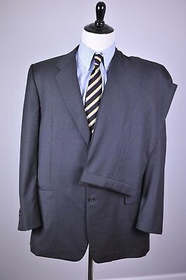 Hickey Freeman Two Button Wool Suit Gray Super 120s Men's 46L 40x32
