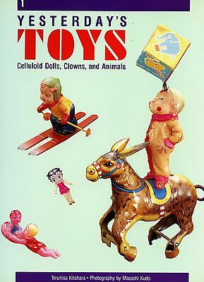 Antique Celluloid Toys Dolls Clowns Animals - Types Dates / Scarce Book
