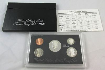 1996 United States Silver Proof Set with Box and COA