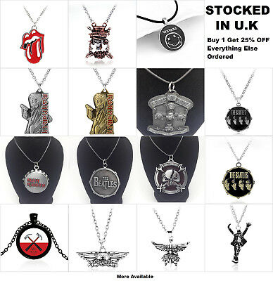 Bands Music Jewellery Guns N' Roses Iron Maiden The Beatles Pendant Necklace