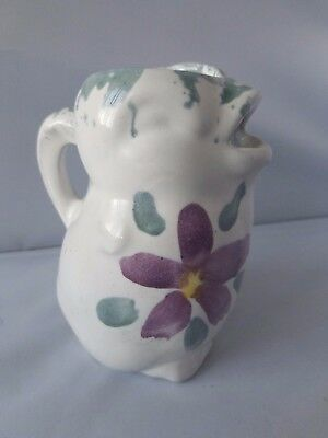 Vintage Bybee Pottery Kentucky Handmade Chick Creamer Flower Floral Clay Mug