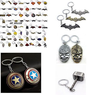 Marval DC Keychain comic Keyring Iron man Batman Superman Deadpool X-Men X Men