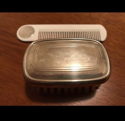 Vintage Lunt Sterling Silver baby brush and comb set