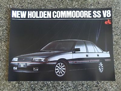 Holden 1989 Vn Ss Sales Brochure 100% Guarantee.