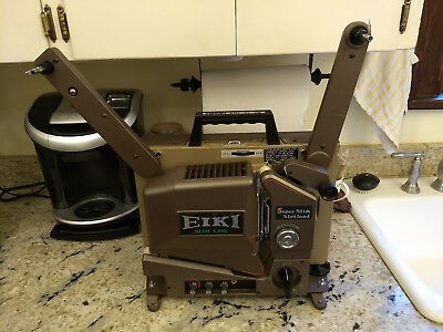 Eiki SSL-O Super Slim Slotload Film Projector w/ case, manual and extra bulb!